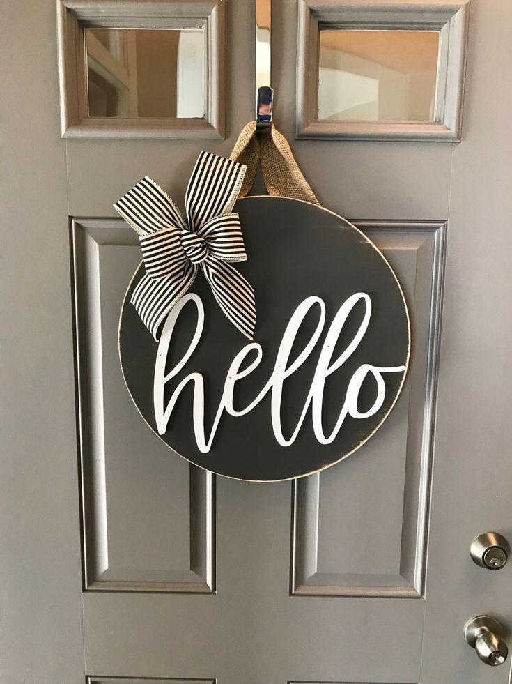 Door Decoration Hello Door Hanger Front Door Decor