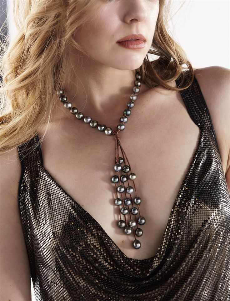Wendy Mignot Fine Pearls and Leather Jewelry the authentic world renowned brand defining Gypset Style and Bohemium Chic presents the Jellyfish Tahitian Necklace from the Society Collection. Discover Wendy Mignot Designs in the eBoutique.