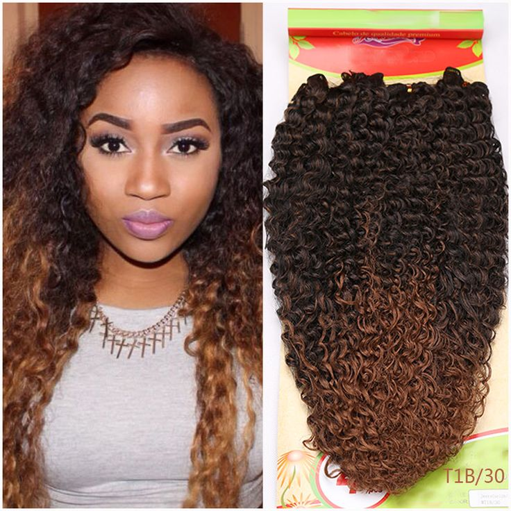 Synthetic Weave Ombre Hair weft Synthetic Purple ,Brown Red 11 colors avaliable kinky Curly Hair  Hair Extensions