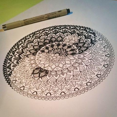 #mandala #zendoodle #yinyang #artoftheday #drawing #dessin