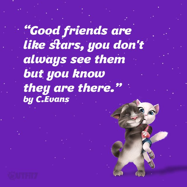 Tag your best friend in the comments! #BestFriendsDay, xo Talking Angela #TalkingAngela #MyTalkingAngela #LittleKitties #bff #friends #summer #stars #TalkingTom #happy #cute
