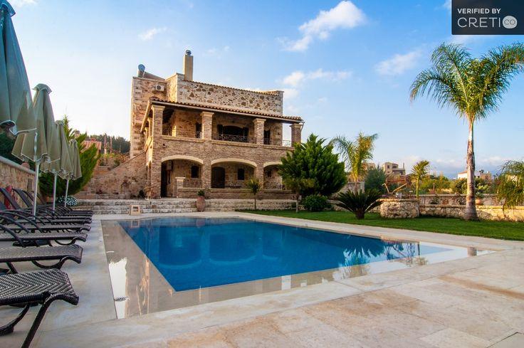 Two floor magnificent sea view villa made of wood and iron, Kontomari | Cretico
