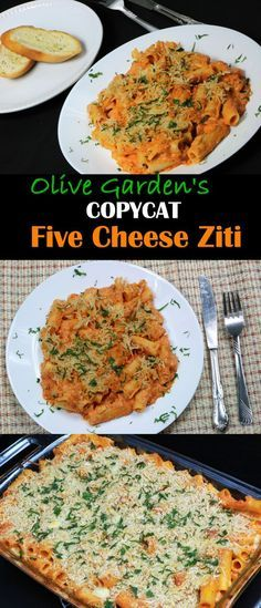 Five Cheese Ziti is a classic Italian baked pasta dish. It's basically mixture of alfredo sauce and pasta sauce baked in a dish with cheese and ziti pasta. I love Olive Garden. I have been there countless times (Love that endless salad and bread sticks). Five Cheese Ziti is one of my favorite. Today I am showing you how to make one of Olive Gardens best known Pasta dishes - Five Cheese Ziti at home.