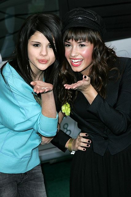Selena Gomez &  Demi Lovato The current status of their friendship is up in the air, but back when they were on Barney & Friends, Gomez and Lovato were indeed good pals. They remained friends through their Disney days and even made a Disney Channel original movie together called Princess Protection Program.