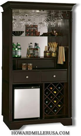 Wine Bar Cabinets with Refrigerator   695104 Howard Miller win and bar cabinets