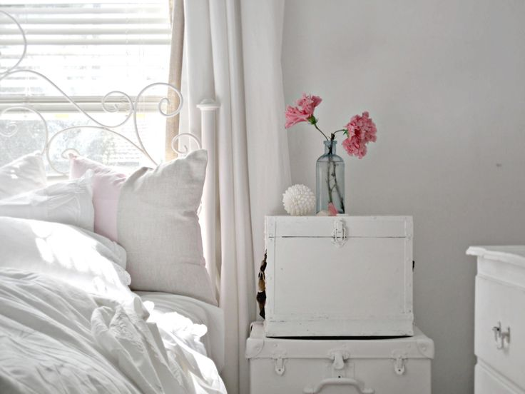 Beach Cottage Bedroom, Flowers from the Front and Vintage Things
