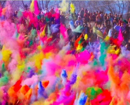 inspiring festival of colours in India