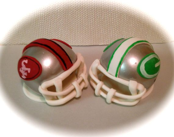 Football Helmet Cake Toppers By Expresssugardesigns On