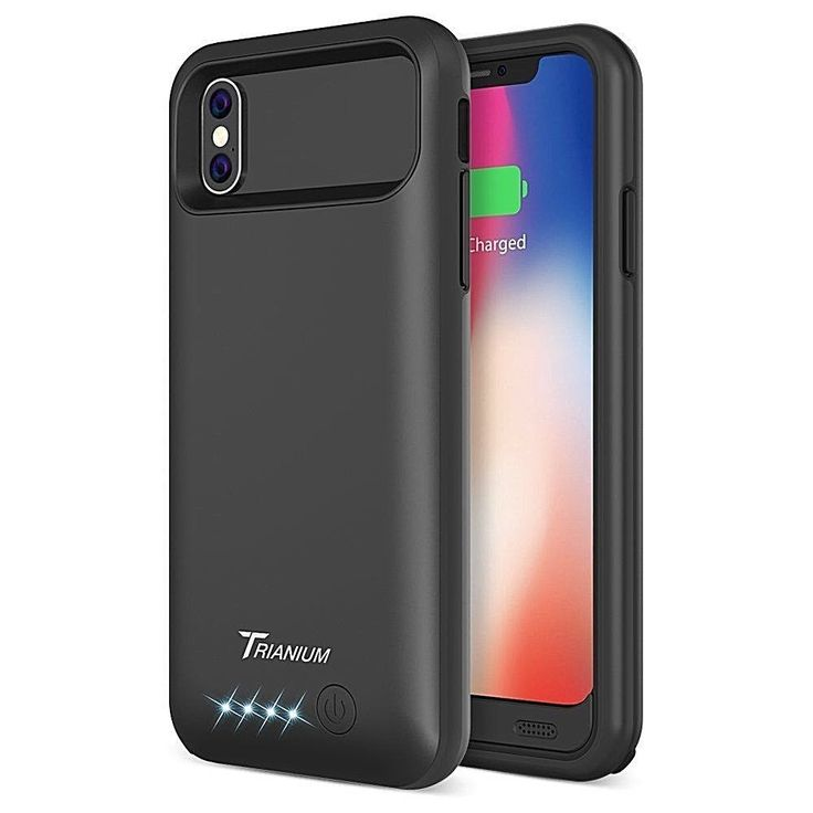 Iphone X Battery Case 4000Mah Portable Charging Cover-Extended Power Bank Black #DealsToday
