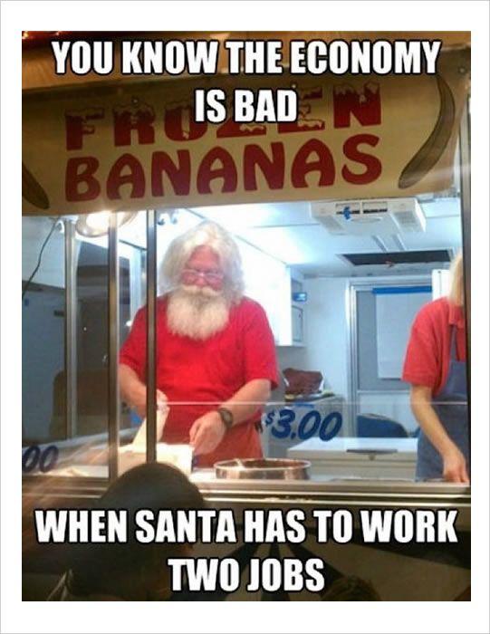 Santa in the bad economy