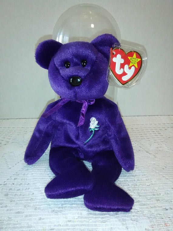 76992287abe Princess Diana First Edition Beanie Baby Space P.E Pellets