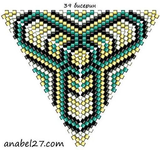 Схемы треугольников - мозаичное плетение 4 | - Схемы для бисероплетения / Free bead patterns -