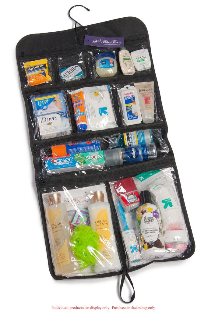 Toiletry Bag | Hanging Travel Case for Accessories | Fisher's Finery – Fishers Finery