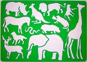 Safari-Afrikaner-Tiere-Schablone-Zeichenschablone-Elefant-Giraffe-Loewe-Kaenguru-Pf-332669800--large.jpg (300×213)