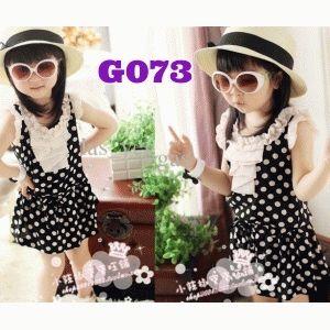B2W2 Dress Black Polkadot (G073) || size 90-120 || IDR 97.000