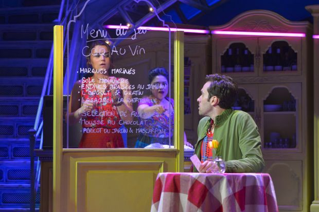 Maria-Christina Oliveras as Suzanne, Adam Chanler-Berat as Nino and Samantha Barks as Amelie