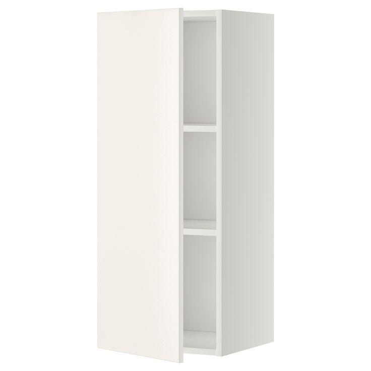METOD Väggskåp med hyllplan - vit, Veddinge vit, 40x100 cm - IKEA