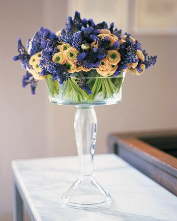 Flowers in a Glass Compote.