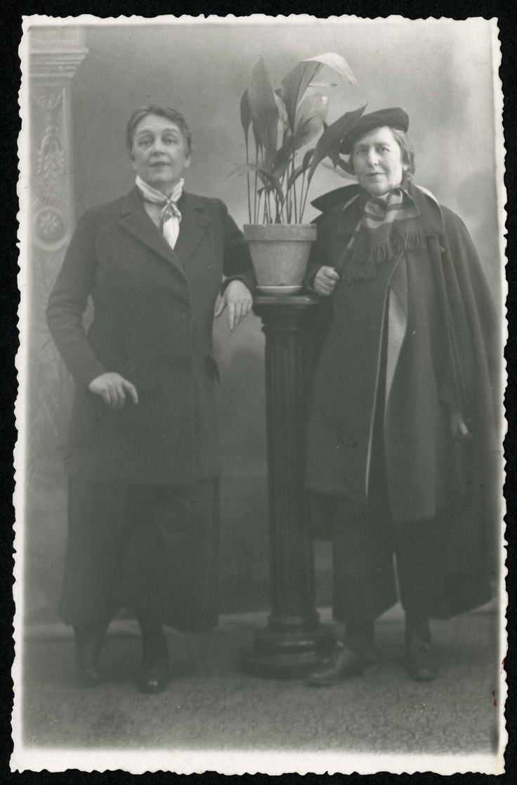 "Romaine Brooks and Natalie Barney, c. 1935. Natalie wrote: ""My queerness is not a vice, is not deliberate, and harms no one."" Brava! --in reverence for the dead in Orlando on 6/13/2016"