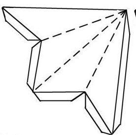 template for cardboard barn star