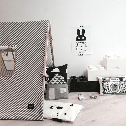 #deco #black #white #noir #blanc #inspiration #chambre #enfant