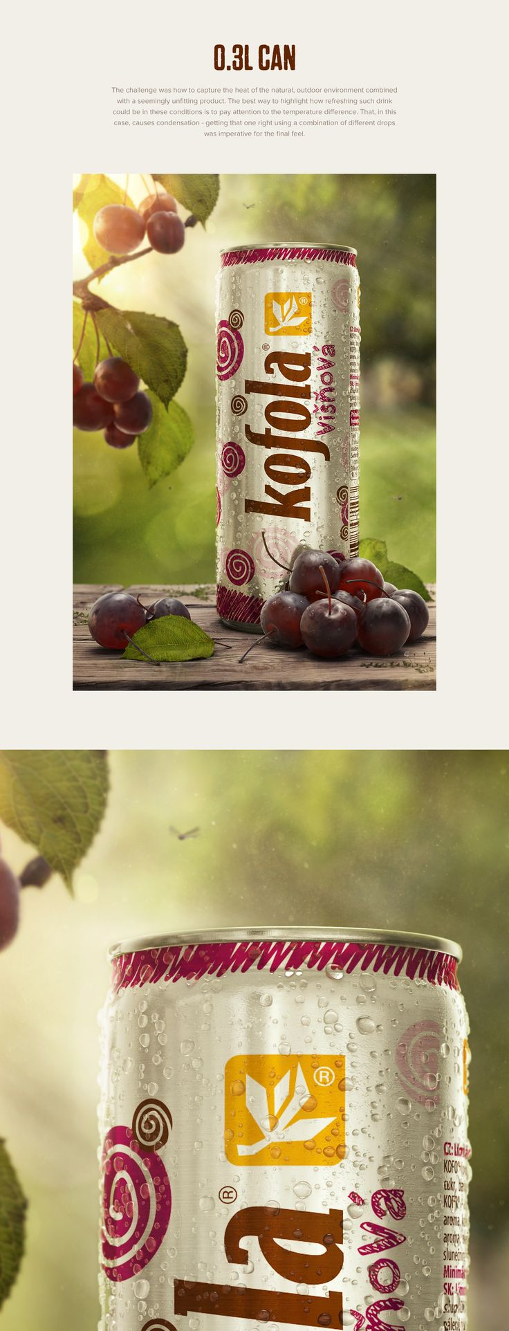 Kofola soft drinks on Behance