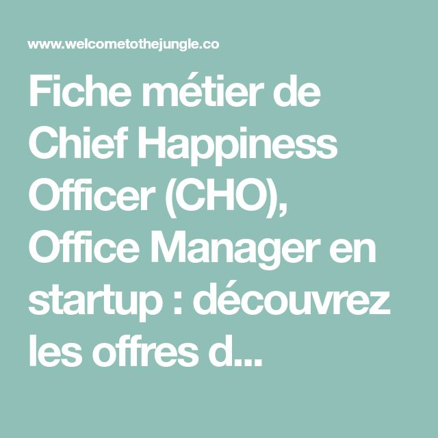 le pitch   le chief happiness officer doit  u00eatre une