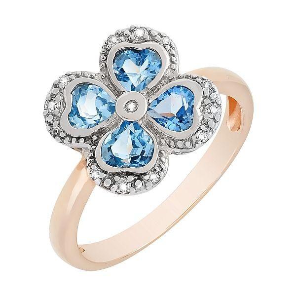 Кольцо с бриллиантом и топазом mg_41193