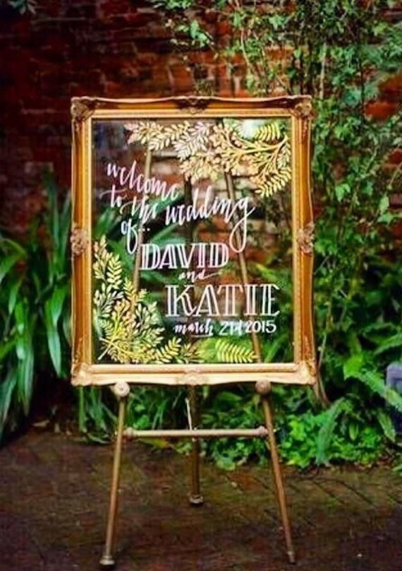 Welcome to the Wedding Sign, Free Shipping, Gold Framed Sign, Custom Made, Wedding Welcome Sign, Bri