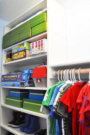 Create a custom closet with Billy bookshelves. | 31 Brilliant Ikea Hacks All Parents Should Know