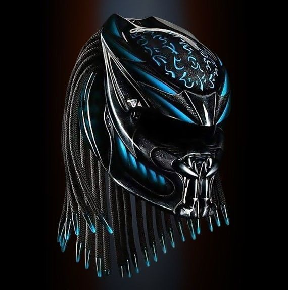 THE GREAT ALIEN PREDATOR HELMET CUSTOM STYLE SIZE S, M, L, XL, #CELLOS