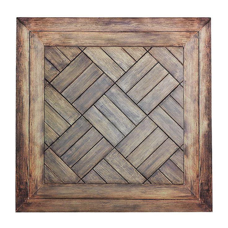 """Déco Décor en carton """"Parquet à motif"""" 50 x 50 cm & Décoration chez DecoWoerner"""