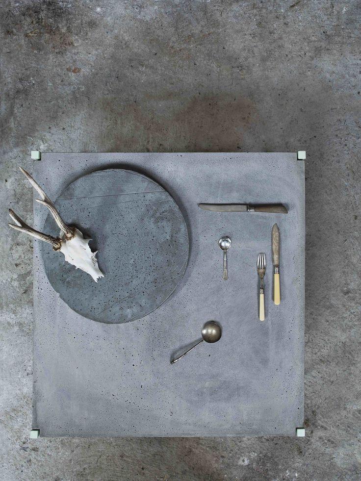 EH6 - Dining Table. #concretetable #diningtable #table #accessories #details #inspiration #interiordesign  #danishdesign
