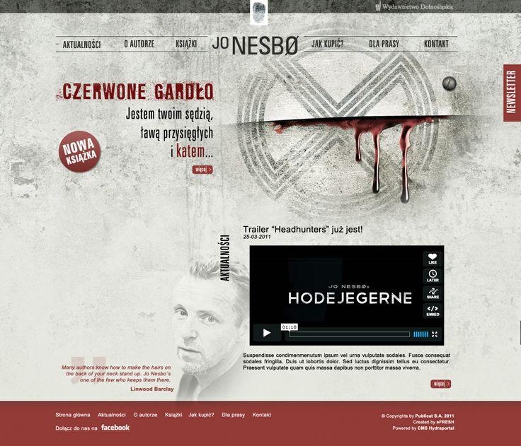 Jo Nesbo site. For more visit: http://be.net/mareklasota