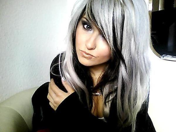 Silver hair...I love it, oddly.: Grey Hair, Gray Hair, Silverhair, Hair Colors, Black Hair, Silver Hair, Blackhair, Hair Style, Hair Looks