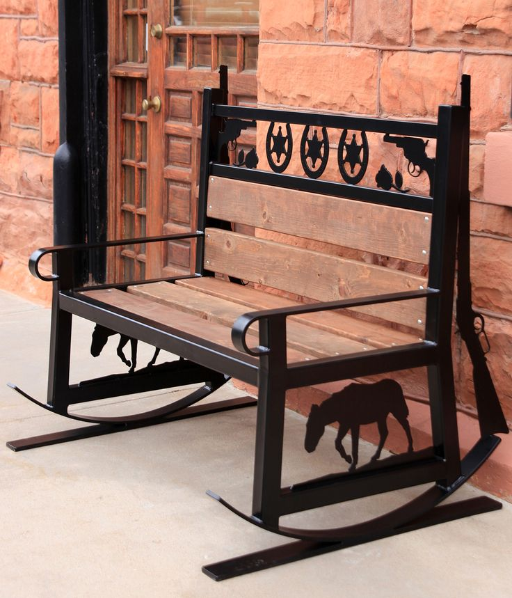 Western Style Metal Rocking Bench You Can Make Your Own