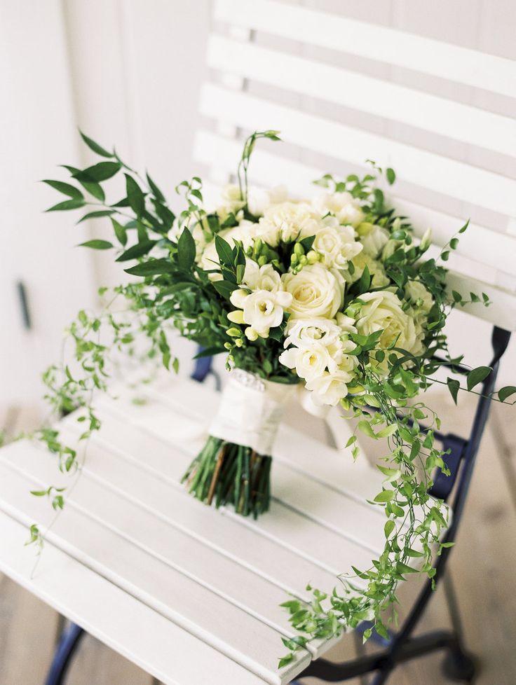 Florist: Monteray Farms - http://www.stylemepretty.com/portfolio/amy-wilkins-from-monteray-farms Photography: Krista A. Jones Photography - kristaajones.com   Read More on SMP: http://www.stylemepretty.com/2016/09/08/blue-white-nautical-maryland-wedding/