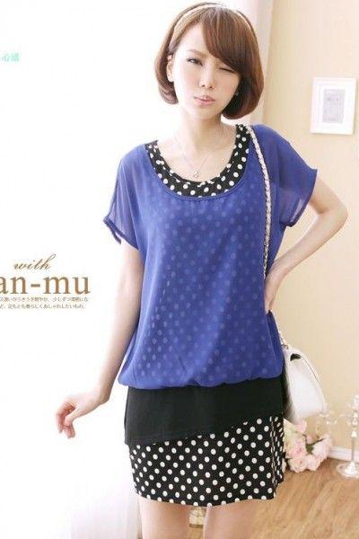 Baju Import Dress DS3088-Blue