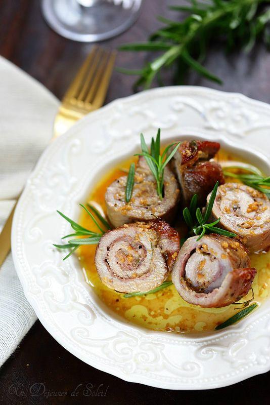 Roulés (involtini) de viande au parmesan et au jambon