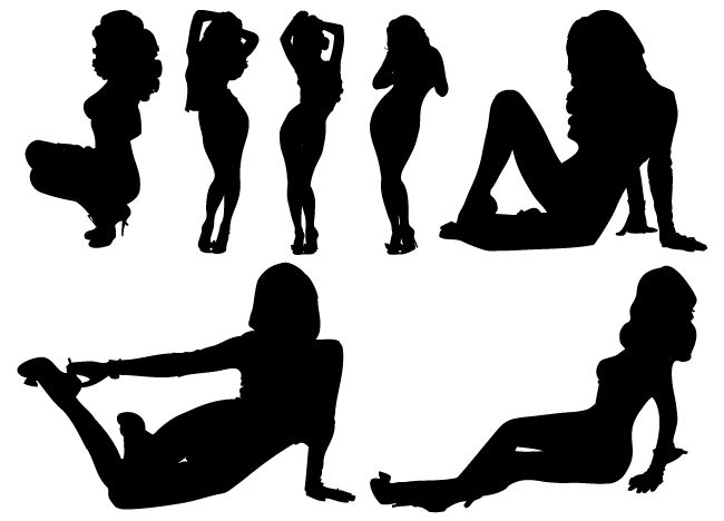 free sexy girl silhouette vectors free graphics Girl Sexy Comic Strip SRT Girl Sexy Comic Strip SRT