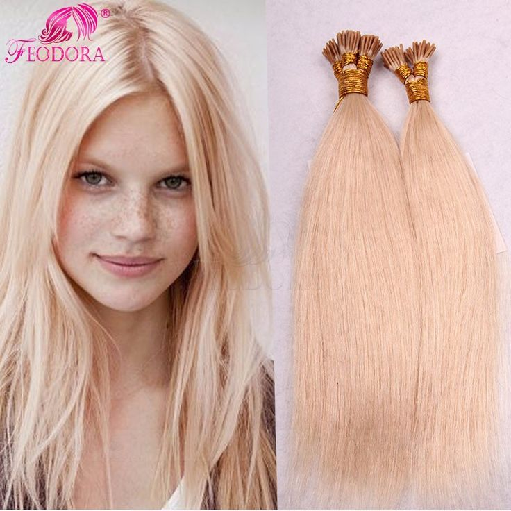 I tipe Prebonded Remy Hair Extensions Straight Indian Human Hair Pre-bonded Hair Extensions 1g U / I / Flat Nai Prebonded Hair