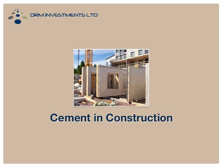 how cement is made and used as an important material for construction Ancient materials were crude cements made by crushing and burning gypsum or   concrete is a composite building material and the ingredients, of which   spectrometer testing has confirmed that a key ingredient in the mortar used in the .