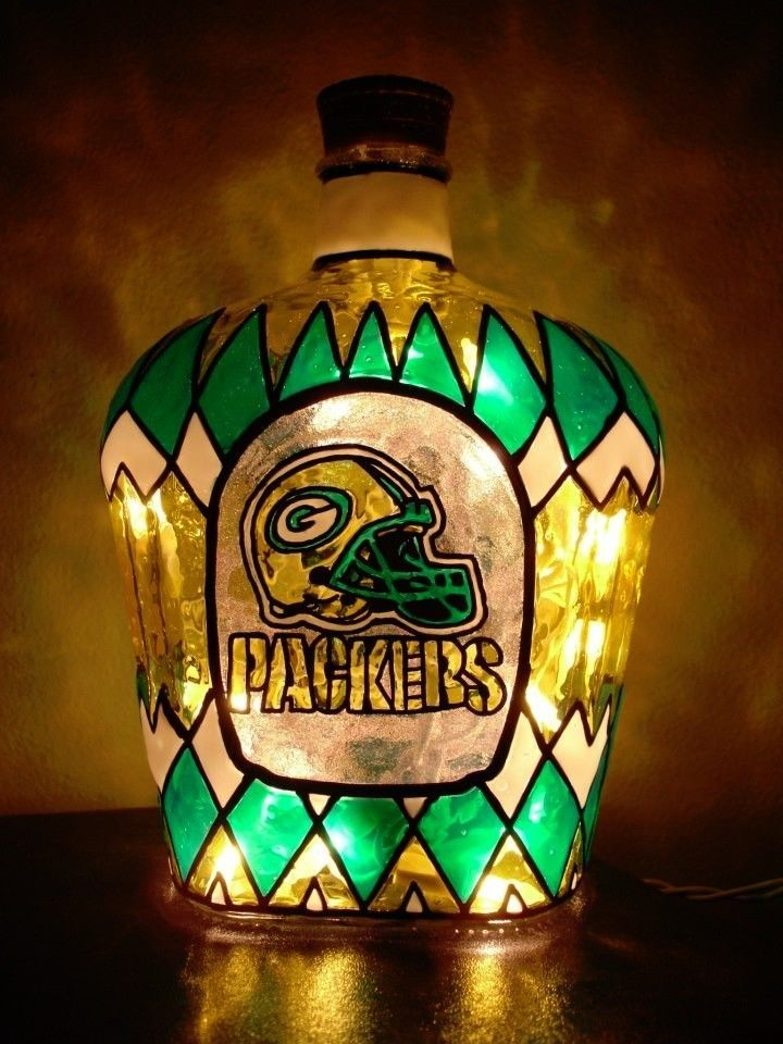 Green Bay Packers - Crown Royal - Custom Bottle Art  Any Team Any Theme from $80.0