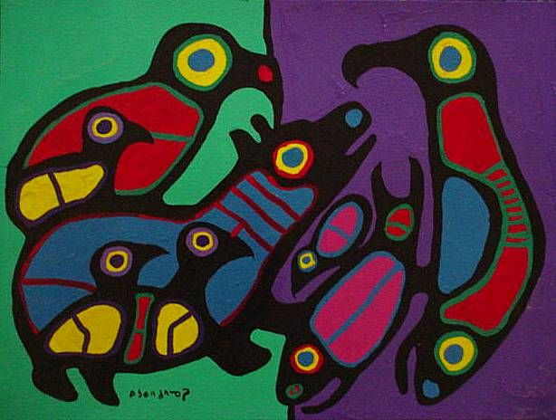 Norval Morisseau. Amazing Ojibway artist from Canada.