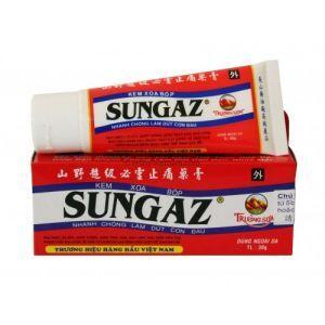 """SUNGAZ (САНГАЗ) - сильнейший обезболивающий крем-бальзам. Пр-во Вьетнам. Крем """"Sungaz Cream"""" при артрите, боли в спине, мышцах и суставах. Крем """"Sungaz Massage Cream"""" эффективно и быстро избавляет от боли в мышцах, защищает кожу, делая ее мягкой и не восприимчивой к аллергенам."""