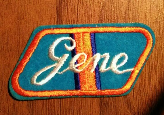 Vintage 1970's Gene' Embroidered Name Patch by batchesOpatches