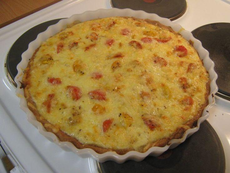 Mau!kas ruokablogi: Tomaatti-mozzarellapiirakka 3