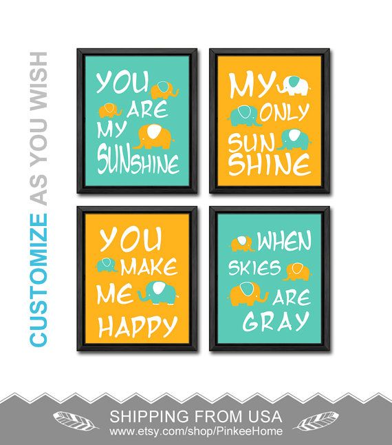 59 best You are my sunshine my only sunshine nursery kids wall art ...
