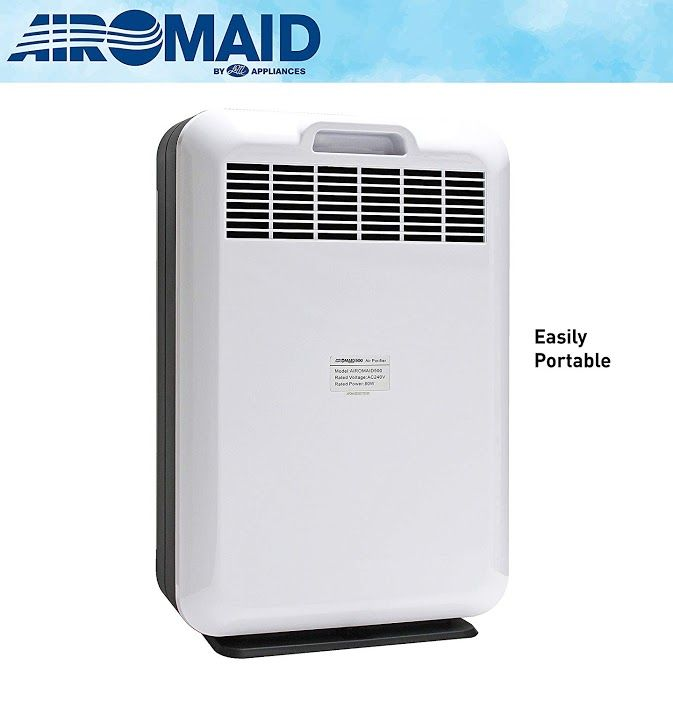 New Review L M Airomaid 500 Ultra Quiet Air Purifier With Ionizer True Hepa And Nano Activated Carbon Filter Complete Air Cleaning System That Remove Germs