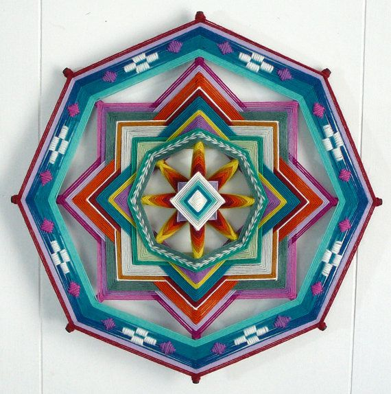 Painted desert, a 16 inch, all wool yarn Ojo de Dios #etsy #JaysMandalas